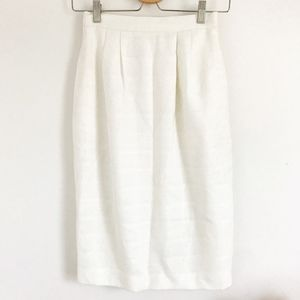 Vintage Plaid Print Pleated Pencil Skirt
